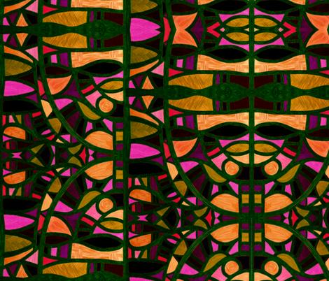 Night Gaudi, large by Su_G fabric by su_g on Spoonflower - custom fabric