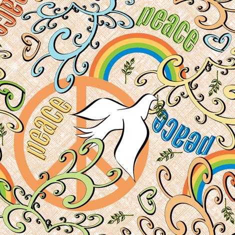 Little Dove's Piece for Peace - Orange