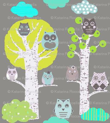 night owls in trees