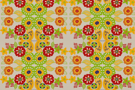 floral fabric by balanced on Spoonflower - custom fabric