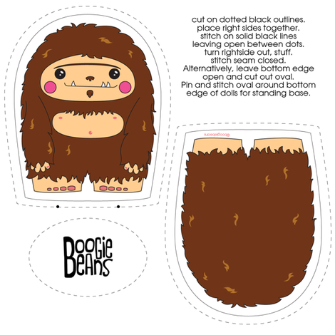Sasquatch Plush fabric by kfay on Spoonflower - custom fabric