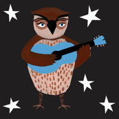 Owl plays Guitar