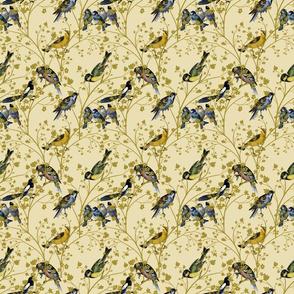Georgian Birds on Cream