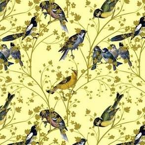 Georgian Birds on yellow