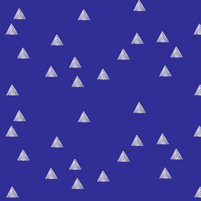 stripey triangle blue