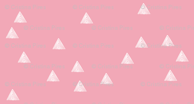 stripey triangles pink