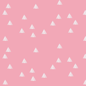 stripey triangles pink