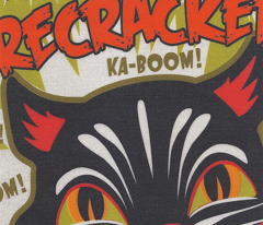 Kat-Ka-Boom Firecrackers Tea Towel