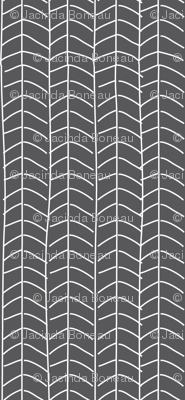 Texas Modern Herringbone Coal