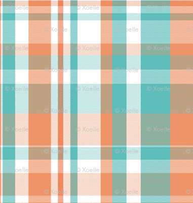 peachie teal plaid #1552