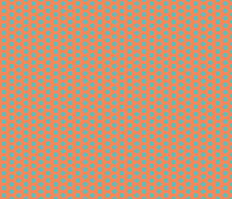 coral & aqua dot fabric by xoelle on Spoonflower - custom fabric