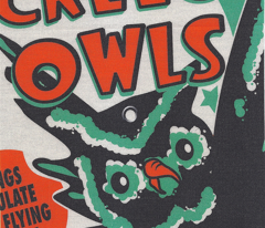 Screech Owls Tea Towel