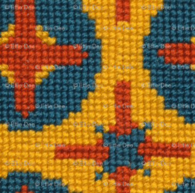 Yellow & Blue Stitches