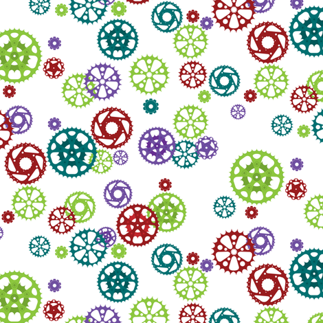 Bicycle Cogs fabric by upcyclepatch on Spoonflower - custom fabric