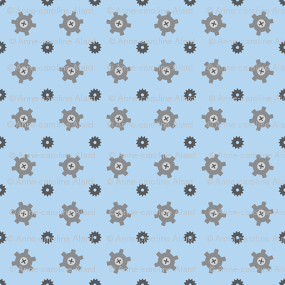 Blue gear