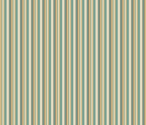 daisy stripes teal/ivory fabric by alyson_chase on Spoonflower - custom fabric