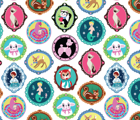 ModPets_kitschtastic_fabric fabric by deerlyyours on Spoonflower - custom fabric