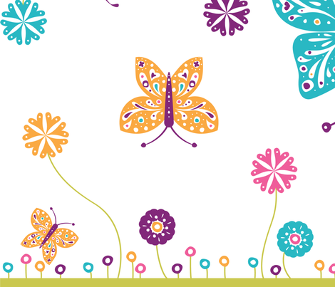 Sugar n Spice Butterflies - © Lucinda Wei fabric by lucindawei on Spoonflower - custom fabric