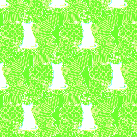 GATO_LEMON fabric by _vandecraats on Spoonflower - custom fabric