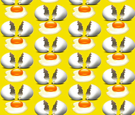 Just Eggs fabric by whimzwhirled on Spoonflower - custom fabric