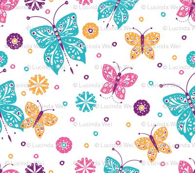 Sugar n Spice Butterflies Pattern - © Lucinda Wei