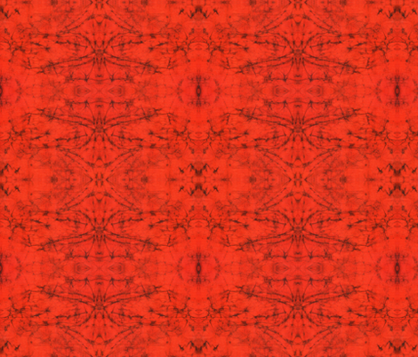 Maroon crackle on orange fabric by hooeybatiks on Spoonflower - custom fabric