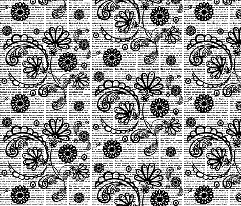 Newspaisley fabric by conteximus on Spoonflower - custom fabric