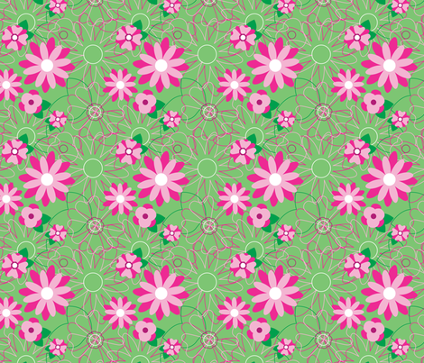 Minty Floral fabric by wastedwings on Spoonflower - custom fabric