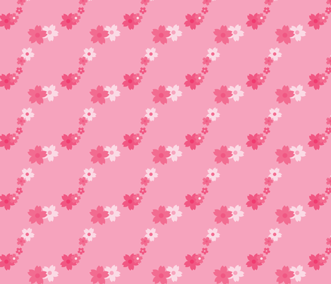 Sakura Floral fabric by wastedwings on Spoonflower - custom fabric