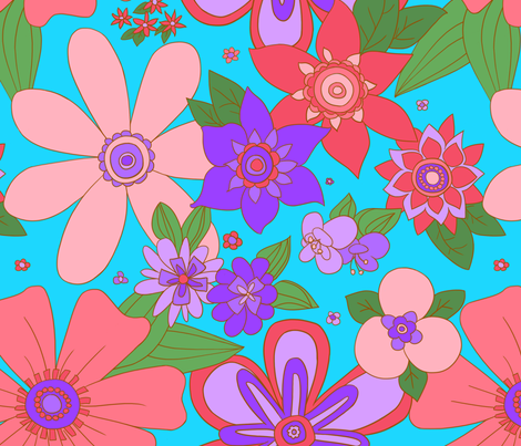 Big Floral fabric by wastedwings on Spoonflower - custom fabric
