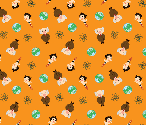 Astro Boy fabric by wastedwings on Spoonflower - custom fabric