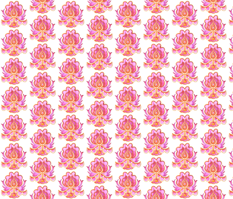 India Flowers fabric by gemmacreativa on Spoonflower - custom fabric