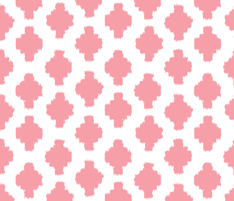 Spring Whimsy: True Pink Ikat fabric by threeyellowplums on Spoonflower - custom fabric