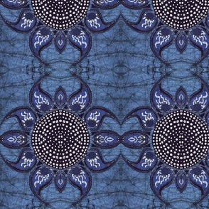 Batik horned flower