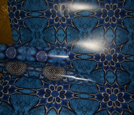 Spiked Flower batik