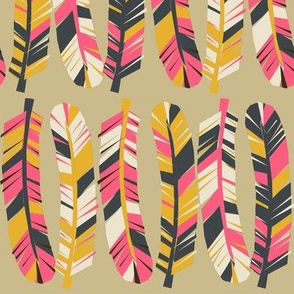 feathers // boho trendy fashion print girly feathers tribal southwest pattern