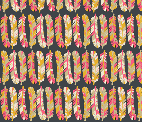 feathers // tribal boho southwest feathers print for girls fabric by andrea_lauren on Spoonflower - custom fabric