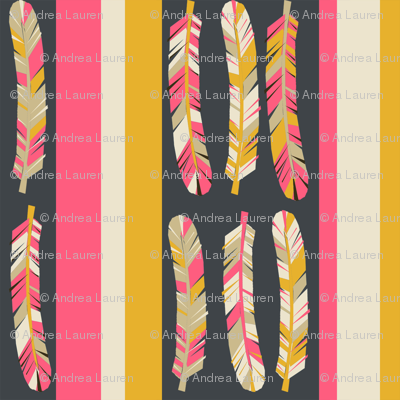 feathers in stripes // boho tribal southwest design