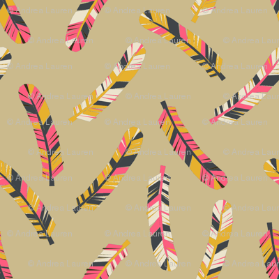 feathers // boho southwest tribal feathers design