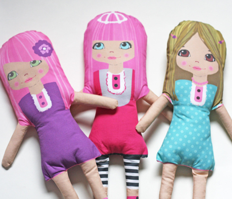 TEA -cut and sew softie doll