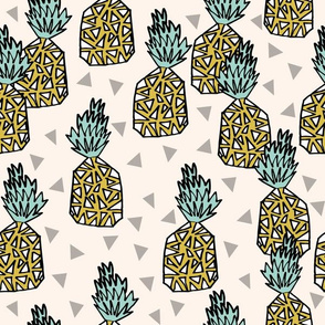 pineapple // pineapples sweet summer fruits tropical pineapple sweet geo geomtric tropical design