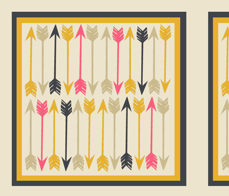 Arrows on Cream Square fabric by papersparrow on Spoonflower - custom fabric