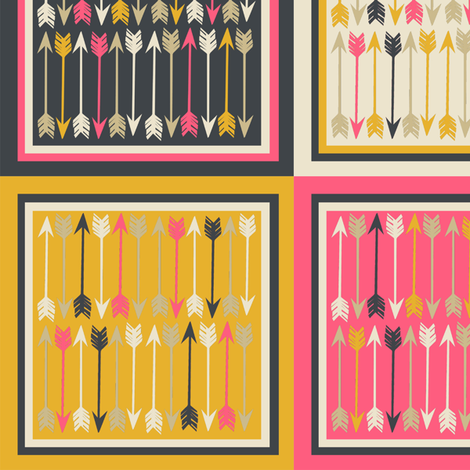 Arrows squares.   fabric by papersparrow on Spoonflower - custom fabric