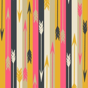 arrow stripes // stripe fabric with arrows trendy feathers and arrows southwest stripe design
