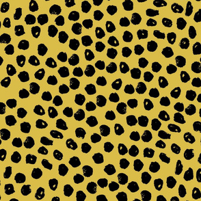 black and  yellow dots // black and yellow cheetah spots spot inky dots