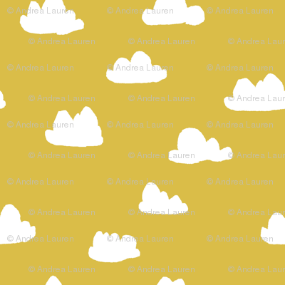 clouds // mustard cool gender neutral mustard yellow cloud design for baby