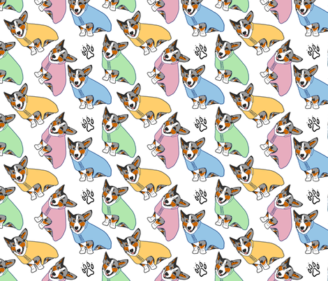 Cardigans in spring coats fabric by rusticcorgi on Spoonflower - custom fabric