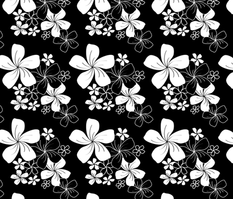 Midnight Bouquet fabric by jjtrends on Spoonflower - custom fabric