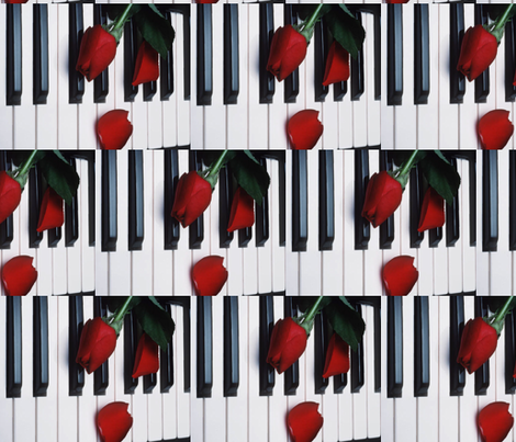 PIANO fabric by bluevelvet on Spoonflower - custom fabric