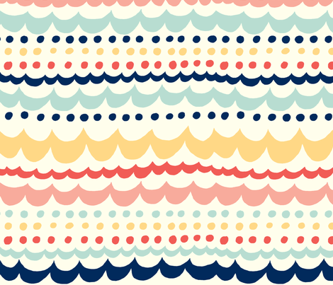 Scallop_Fun fabric by stacyiesthsu on Spoonflower - custom fabric